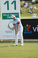 Paul Dunne (IRL) on the 11th, round 2 of the Portugal Masters, Dom Pedro Victoria Golf Course, Vilamoura, Vilamoura, Portugal. 25/10/2019<br /> Picture Andy Crook / Golffile.ie<br /> <br /> All photo usage must carry mandatory copyright credit (© Golffile | Andy Crook)