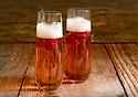 Raspberry Bellini cocktails