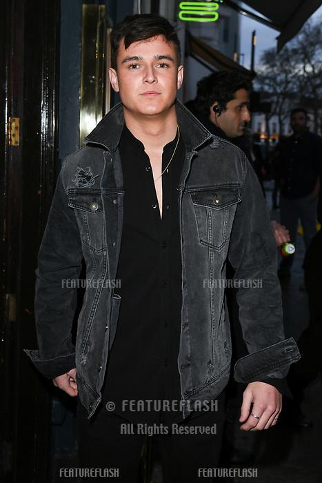 Sam Prince arriving for James Ingham's Jog on to Cancer 2018 at Cafe de Paris, London, UK. <br /> 04 April  2018<br /> Picture: Steve Vas/Featureflash/SilverHub 0208 004 5359 sales@silverhubmedia.com