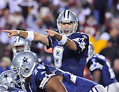 Landover, MD - November 16, 2008 -- Dallas Cowboys quarterback Tony Romo (9) calls signals in first quarter action against the Washington Redskins at FedEx Field in Landover, Maryland on Sunday, November 16, 2008.  The Cowboys won the game 14 - 10..Credit: Ron Sachs / CNP