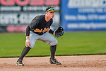 12 July 2015: West Virginia Black Bears infielder Mitchell Tolman in action against the Vermont Lake Monsters at Centennial Field in Burlington, Vermont. The Lake Monsters rallied to defeat the Black Bears 5-4 in NY Penn League action. Mandatory Credit: Ed Wolfstein Photo *** RAW Image File Available ****
