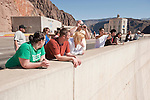Tourist view and photograph Hoover Dam on the Nevada side