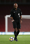 Referee Samuel Allison in action during the premier league 2 match at the Emirates Stadium, London. Picture date 21st August 2017. Picture credit should read: David Klein/Sportimage