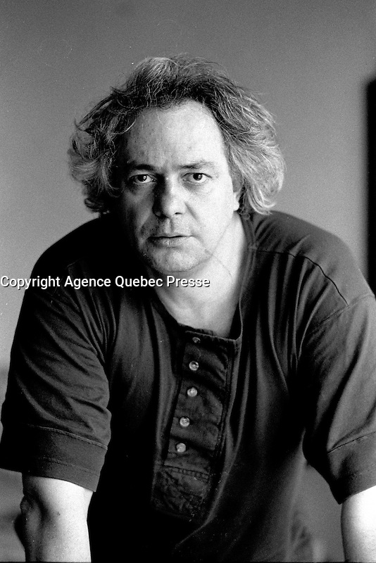 Montreal, CANADA - File Photo -  French film maker Jacques Dorfman pose for an exclusive photo, March 24, 1989.<br /> <br /> Photo : Agence Quebec Presse  - Pierre Roussel
