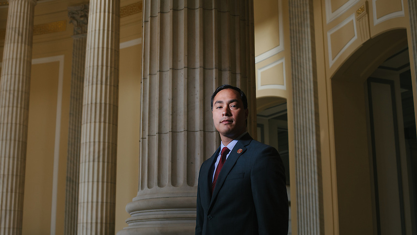 Portrait of Freshman  Congressman, United States Representative Joaquin Castro from San Antonio, Texas  in the Cannon House Office Building in Washington, DC on July 24, 2013. CREDIT: Lance Rosenfield/Prime