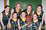 The Glenbeigh Falcons team that played St Brigid's Currow in the u18 cup final in Killarney on Sunday front row l-r: Emma Sheahan, Danika O'Grady, Laura sheahan. back row: Stephanie Sheahan, julie O'Connell, Cliona Coffey and Yvonne Sheahan