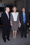 28.09.2012. Queen Sofia of Spain attends the opening of the season at the Teatro Real in Madrid, in the company of the Minister of Culture, José Ignacio Wert. In the image Queen Sofia and José Ignacio Wert.  (Alterphotos/Marta Gonzalez)