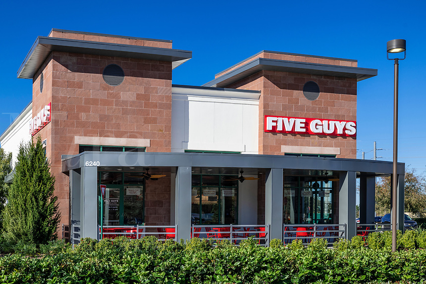 Five Guys fast casual restaurant.