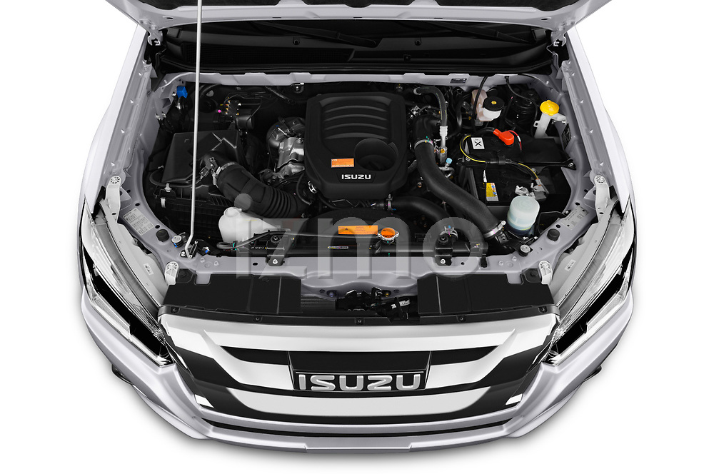 Car Stock 2019 Isuzu D-Max LSX 5 Door Pick-up Engine  high angle detail view