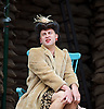 946: The Amazing Story of Adolphus Tips <br /> directed by Emma Rice at The Globe Theatre, London, Great Britain <br /> press photocall <br /> 16th August 2016 <br /> <br /> <br /> <br /> Ewan Wardrop as Mrs Ivy Turner<br /> <br /> <br /> <br /> Photograph by Elliott Franks <br /> Image licensed to Elliott Franks Photography Services