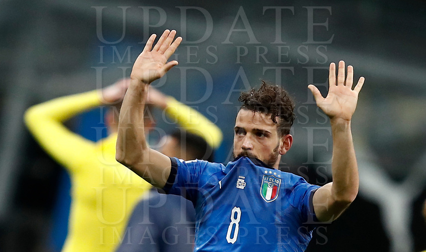 Soccer Football - 2018 World Cup Qualifications - Europe - Italy vs Sweden - San Siro, Milan, Italy - November 13, 2017 <br /> Italy's Alessandro Florenzi looks dejected at the end of the FIFA World Cup 2018 qualification football match between Italy and Sweden at the San Siro stadium in Milan, on November 13, 2017. <br /> Italy failed to reach the World Cup for the first time since 1958.<br /> UPDATE IMAGES PRESS/Isabella Bonotto