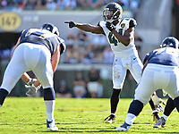 Jacksonville Jaguars linebacker Myles Jack (44) against the Los Angeles Rams in a NFL game Sunday, October 15, 2017 in Jacksonville, Fl.  (Rick Wilson/Jacksonville Jaguars)