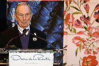 www.acepixs.com<br /> February 16, 2017  New York City<br /> <br /> Michael Bloomberg at the press conference for The Oscar de la Renta Forever Stamp First-Day-of-Issue Stamp Dedication Ceremony, Vanderbilt Hall at Grand Central Station on February 16, 2017 in New York City.<br /> <br /> Credit: Kristin Callahan/ACE Pictures<br /> <br /> <br /> Tel: 646 769 0430<br /> Email: info@acepixs.com