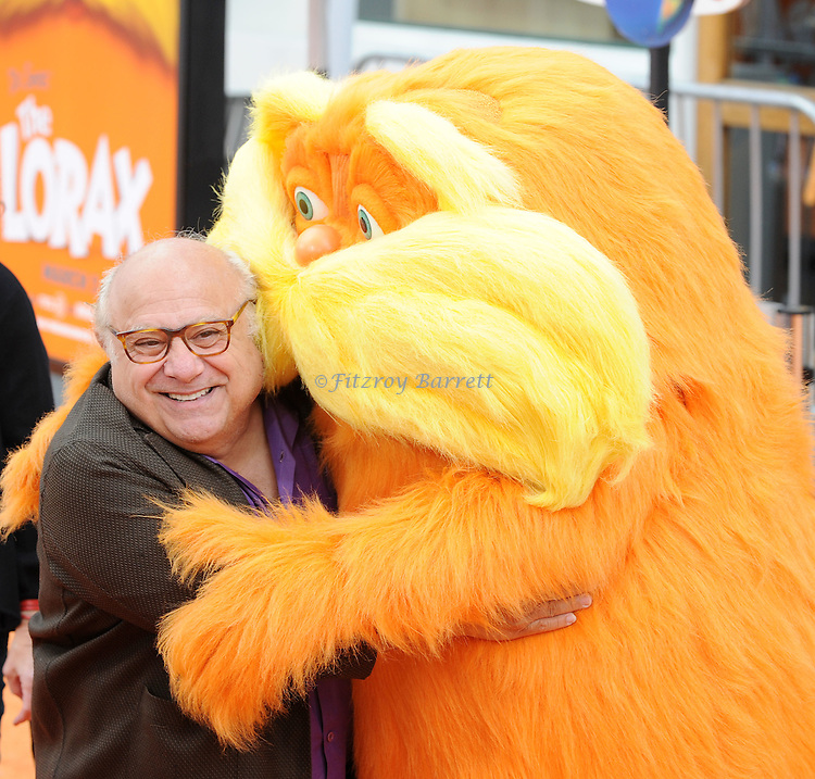 Danny DeVito and wife Rhea Perlman at the Dr. Seuss The Lorax Premiere held at  Universal Studios  Hollywood, Universal City, CA.. February 19, 2012