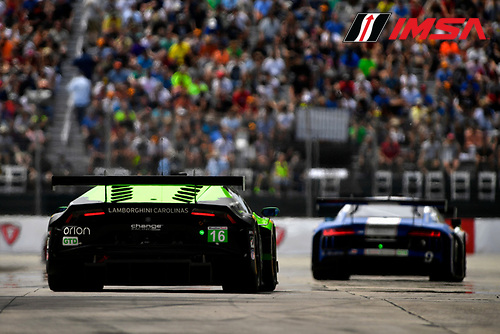 3-4 June, 2016, Detroit, Michigan USA<br /> 16, Lamborghini, Huracan GT3, GTD, Spencer Pumpelly, Corey Lewis<br /> &copy;2016, Scott R LePage <br /> LAT Photo USA