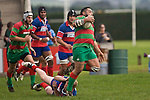 Maka Tatafu steps out of Bruce Johns tackle. Counties Manukau Premier rugby game between Waiuku & Ardmore Marist played at Waiuku on Saturday May 10th 2008..Ardmore Marist won 27 - 6 after leading 10 - 6 at halftime.