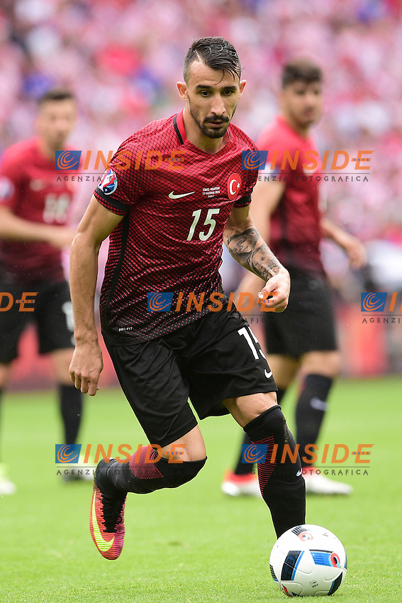 Mehmet Topal (Turkey)  <br /> Paris 12-06-2016 Parc des Princes Football Euro2016 Turkey - Croatia / Turchia - Croazia Group Stage Group D. Foto Panoramic / Insidefoto