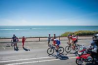 Swiss duo Stefan Küng (SUI/Groupama-FDJ) & Michael Schär (SUI/CCC) forming the breakaway group riding along the seaside<br /> <br /> Stage 10 from île d'Oléron (Le Château-d'Oléron) to Île de Ré (Saint-Martin-de-Ré)(169km)<br /> <br /> 107th Tour de France 2020 (2.UWT)<br /> (the 'postponed edition' held in september)<br /> <br /> ©kramon