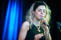 Marina and the Diamonds visit Q102's iHeart Radio Performance Theater in Bala Cynwyd, Pa on August 17, 2012  &copy; Star Shooter / MediaPunchInc /Nortephoto.com<br />