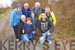Mike, Daniela nd Denis Fenton, John Mullins, Kathleen Sweeney,James Sheehan, Donie Fenton and Anthony Sweeney pictured at the section of roadway in Ownagerry, Killorglin, where they are look for the council to carry out some urgent repair work .
