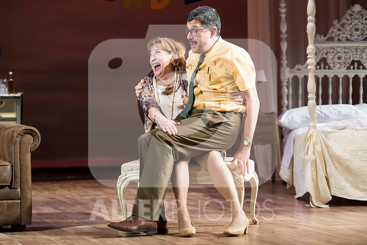 "Jose Luis Patiño and Ana Marzoa during theater play of ""Una gata sobre un tejado de Cinc caliente"" at Reina Victoria theater in Madrid, Spain. March 15, 2017. (ALTERPHOTOS/BorjaB.Hojas)"