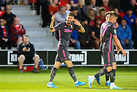 Leeds United's Mateusz Klich celebrates scoring his side's third goal <br /> <br /> Photographer Alex Dodd/CameraSport<br /> <br /> The Carabao Cup First Round - Salford City v Leeds United - Tuesday 13th August 2019 - Moor Lane - Salford<br />  <br /> World Copyright © 2019 CameraSport. All rights reserved. 43 Linden Ave. Countesthorpe. Leicester. England. LE8 5PG - Tel: +44 (0) 116 277 4147 - admin@camerasport.com - www.camerasport.com