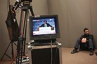 Vicenza: Roberto Maroni parla durante la seduta del cosiddetto parlamento della Padania alla fiera di Vicenza