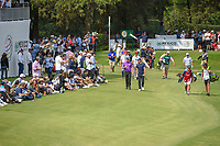 Tyrrell Hatton (ENG) and Danny Willett (GBR) lead the pack down 17 during round 4 of the World Golf Championships, Mexico, Club De Golf Chapultepec, Mexico City, Mexico. 2/24/2019.<br /> Picture: Golffile | Ken Murray<br /> <br /> <br /> All photo usage must carry mandatory copyright credit (© Golffile | Ken Murray)