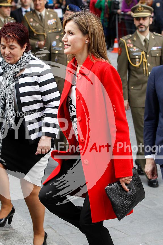 Queen of Spain Letizia Ortiz visits the Artillery Army Academy