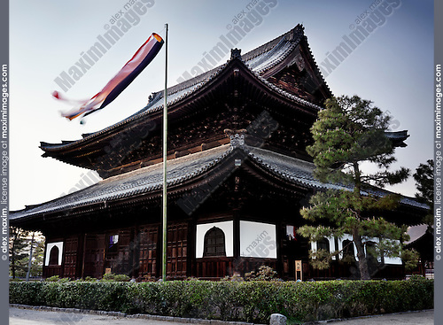 Main hall of Kennin-ji historic Zen Buddhist temple in Kyoto