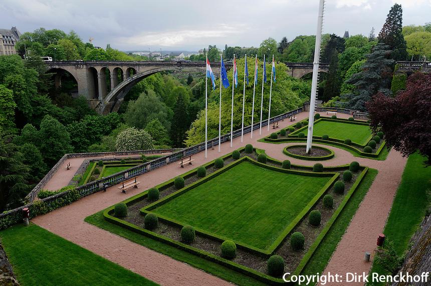 Stadtbefestigung bei der Place de la Constitution, Stadt Luxemburg, Luxemburg