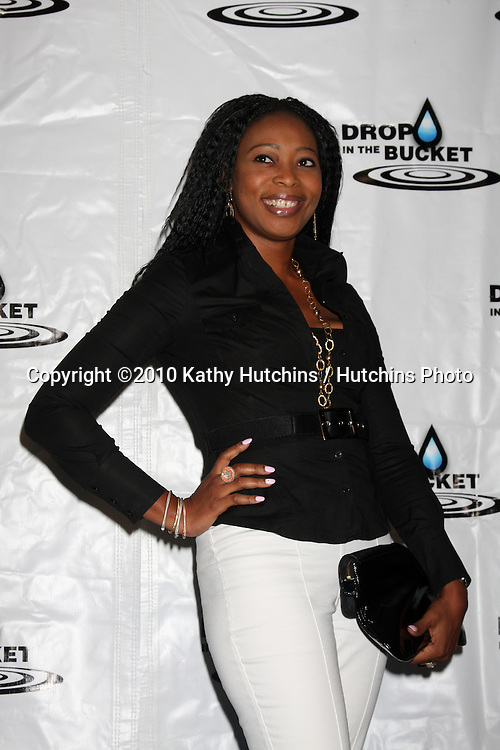 """LOS ANGELES - OCT 19:  Monalisa Okojie arrives at the Drop in the Bucket """"Cause on the Rocks"""" Fundraiser at Viceroy Hotel on October 19, 2010 in Santa Monica, CA"""