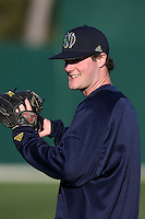 February 26, 2010:  Pitcher Brian Dupra of the Notre Dame Fighting Irish during the Big East/Big 10 Challenge at Jack Russell Stadium in Clearwater, FL.  Photo By Mike Janes/Four Seam Images