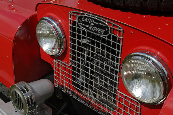 1950s Land Rover Series 1 fire engine NTP 229. On show at the Gaydon Heritage Land Rover Show 2006. Europe, England, UK. --- No releases available. Automotive trademarks are the property of the trademark holder, authorization may be needed for some uses.