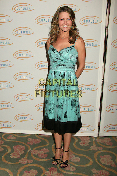 "ALI HILLIS.Lupus LA's ""Love, Light and Laughter"" Fundraiser 2007 at the Beverly Hills Hotel, Beverly Hills, California, USA..May 8th, 2007.full length green turquoise dress black pattern .CAP/ADM/BP.©Byron Purvis/AdMedia/Capital Pictures"