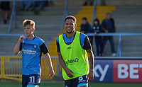 Nathan Tyson of Wycombe Wanderers warms up during the Friendly match between Wycombe Wanderers and AFC Wimbledon at Adams Park, High Wycombe, England on 25 July 2017. Photo by Kevin Prescod.