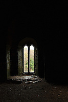 """The """"Bloody Chapel"""" in Ireland's Leap Castle looks out onto soft green scenery of an autumn day."""
