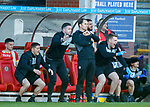 21.04.2018 Partick Thistle v Hamilton:  Partick celebrate the victory at full time but Alan Archibald is ice cold