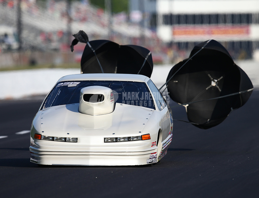 May 4, 2018; Commerce, GA, USA; NHRA top sportsman driver XXXX during qualifying for the Southern Nationals at Atlanta Dragway. Mandatory Credit: Mark J. Rebilas-USA TODAY Sports