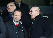 9th February 2019, Craven Cottage, London, England; EPL Premier League football, Fulham versus Manchester United; Manchester Untied Executive Vice-Chairman Ed Woodward talking to Manchester United Co Owner Avram Glazer