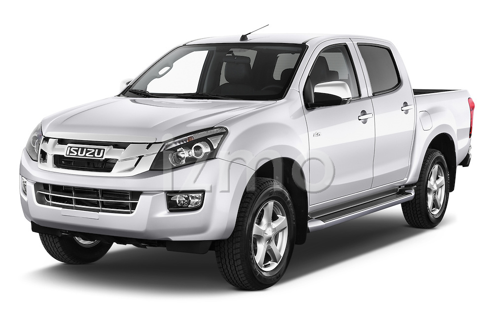 2015 Isuzu D-Max LSX 4 Door Pickup 2WD Angular Front stock photos of front three quarter view