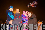 Rian, Jamie, Saoirse and Michelle Moynihan (Tralee) enjoying the New Year's Eve fire works display in Tralee on Tuesday night.