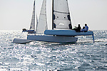 Diam 24 One Design, light, sporty, powerful, winged and designed to race with three or four people on board. The Diam 24OD is fast in light winds and confident in stronger breeze without the necessity for high level sporting prowess. The Diam 24 the new boat for the Tour de France à la Voile 2015.<br /> PRB, Skipper Vincent Riou
