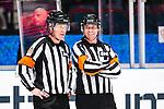 Stockholm 2014-01-18 Ishockey SHL AIK - F&auml;rjestads BK :  <br /> domare Tobias Bj&ouml;rk  och domare S&ouml;ren Persson <br /> (Foto: Kenta J&ouml;nsson) Nyckelord:  portr&auml;tt portrait domare referee ref