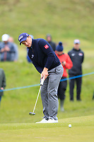 Paul Dunne (IRL) on the 4th green during Round 1 of the Betfred British Masters 2019 at Hillside Golf Club, Southport, Lancashire, England. 09/05/19<br /> <br /> Picture: Thos Caffrey / Golffile<br /> <br /> All photos usage must carry mandatory copyright credit (© Golffile | Thos Caffrey)
