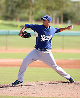 Geison Aguasviva - Los Angeles Dodgers - 2010 Instructional League.Photo by:  Bill Mitchell/Four Seam Images..