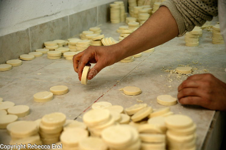 Making olive oil soaps in Mardin, southeastern Turkey