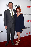 LOS ANGELES, CA - MARCH 29: Jason Segel and Alexis Mixter at the Netflix special film screening of The Discovery  at The Vista Theater in Los Angeles, California on March 29, 2017. Credit: David Edwards/MediaPunch