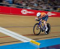 26th January 2020; National Cycling Centre, Manchester, Lancashire, England; HSBC British Cycling Track Championships;  Female 500m TT final Anna Morris slow pan shot