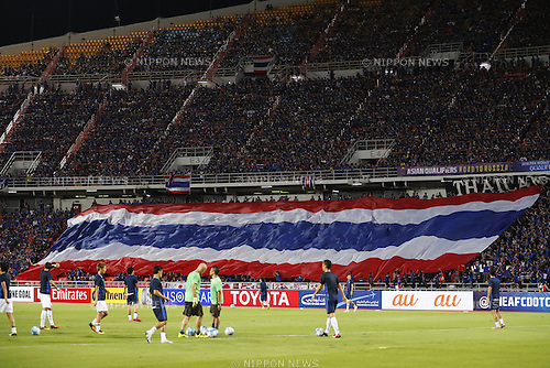 Thailand Fans, SEPTEMBER 6, 2016 - Football / Soccer : FIFA World Cup Russia 2018 Asian Qualifier Final Round Group B match between Thailand 0-2 Japan at Rajamangala National Stadium, Bangkok, Thailand. (Photo by Yusuke Nakanishi/AFLO SPORT)